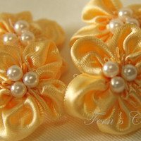 Handmade Satin Ribbon Flowers - Ava.. on Luulla