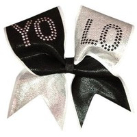 Amazon.com: YOLO-Platinum Cheer Bow: Sports & Outdoors