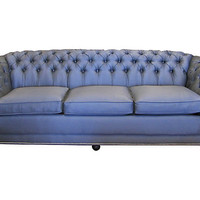 One Kings Lane - Vintage & Designer Picks - Gray Chesterfield Nailhead Sofa