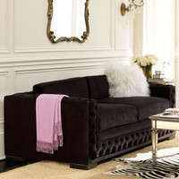 "Haute House - ""Bently"" Black Tufted Sofa - Horchow"