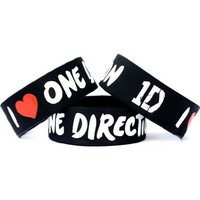 "Amazon.com: I Love One Direction Band One Inch Wristband Wide 1"": Jewelry"