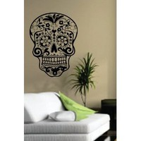 Sugarskull Wall Vinyl Decal Sticker Art