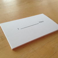 Set of 20  &quot;I  (fill in the blank)  YOU&quot;  --- business cards