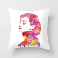 Audrey Throw Pillow by Fimbis | Society6