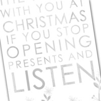 Christmas Quote Art Bus Roll Art Silent 10x20 inch STOCK Typography Canvas