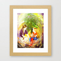Our Christmas Framed Art Print by Vargamari | Society6
