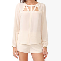 Boxy Cutout Neck Top