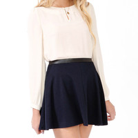 Scalloped Collar Top