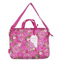 Lilly Pulitzer Laptop Tote with Shoulder Strap May Flowers