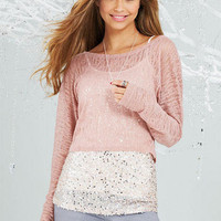 Belle Long-Sleeve Layer Top Pointelle