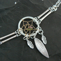 metal dreamcatcher bracelet  in tribal gypsy boho hippie and native american inspired style