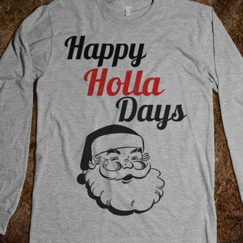 Swanky Santa-Unisex Heather Grey T-Shirt