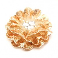 Gold Color Flower Brooch