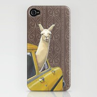Taxi Llama iPhone Case by Jason Ratliff | Society6