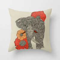 The Elephant Throw Pillow by Valentina | Society6