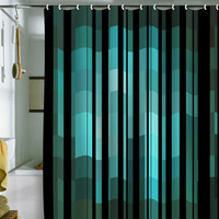 DENY Designs Home Accessories | Madart Inc. Black Stripes Romantic Evening Shower Curtain