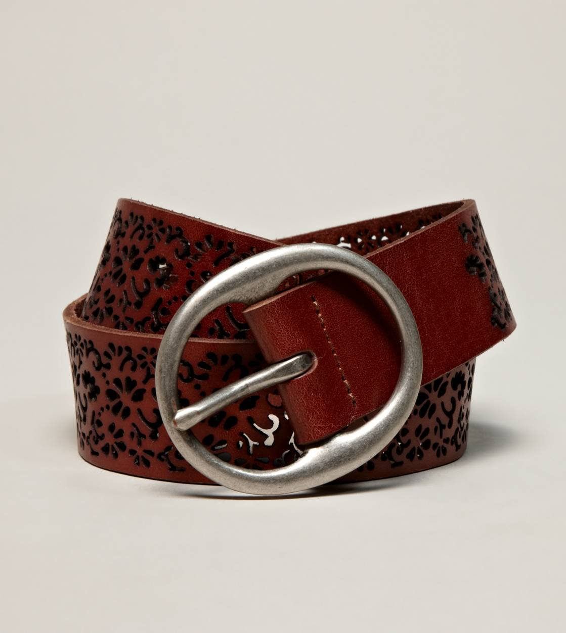 AEO Perforated Floral Belt | American Eagle Outfitters