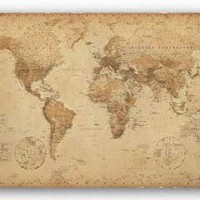 World Map (Vintage Style) 36x24 Poster