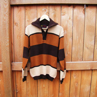 vintage striped sweater. made by Jersild. size M. grandpa sweater. oversized sweater. preppy sweater