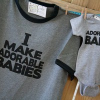 perfect NEW DADDY gift set i make adorable babies by zoeysattic