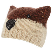 Ginger novelty fox beanie