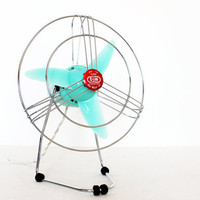 Vintage retro mint 50s fan by bjm home decor etsy black friday etsy cyber monday etsy