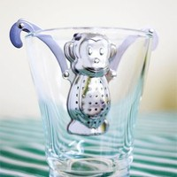 Kikkerland Monkey Tea Infuser and Drip Tray
