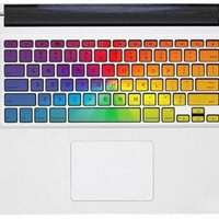 RainBow Macbook Keyboard Decal -- Macbook Pro Keyboard Decal Stickers Macbook Air Sticker Decals Vinyl Cover Skin for Apple Laptop Mac