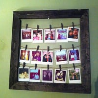 COMBINATION- Photo Frame &amp; Wood Photo