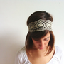 Beaded Sequin Boho Headband Head Bands - Hair Band - Rhinestone Headband - Beaded headband