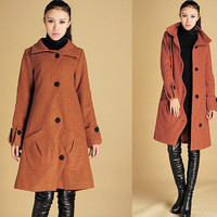 Charming wool jacket coat with Scallop detail (428)