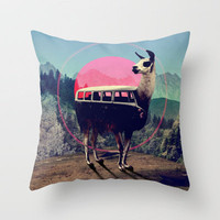 Llama Throw Pillow by Ali GULEC | Society6