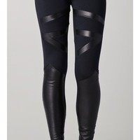 David Lerner Tribal Leather Insert Leggings | SHOPBOP