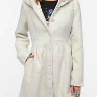 Pins and Needles Hooded Wool A-line Coat