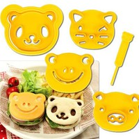 Cutezcute Animal Friends Food Deco Cutter and Stamp Kit | www.deviazon.com
