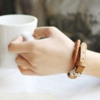 Belt Pattern Bracelet Brown