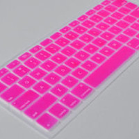 "Apple MacBook Silicone Soft Keyboard Cover Skin For Mac Pro 13"" 15"" Rose Case"