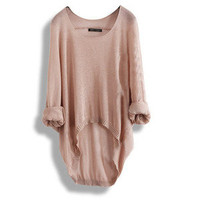 Fashion Batwing Womens Ladies Asymmetric Knit Top Sweater Comfort Sexy Loose