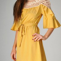 When In Rome Bell Sleeve Dress