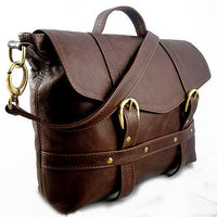 handcrafted midi satchel - rustic brown by freeload accessories | notonthehighstreet.com