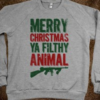 Merry Christmas Ya Filthy Animal (Sweater)