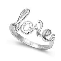 Sterling Silver 7mm Love Ring (Size 4 - 10) - Size 7
