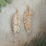 Sparkling Tiered Feather Earrings [3582] - $22.00 : Vintage Inspired Clothing &amp; Affordable Fall Frocks, deloom | Modern. Vintage. Crafted.