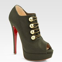 Christian Louboutin Loubout Wool Peep Toe Ankle Boots [2010101729] - $235.00 : Christian Louboutin Shoes Sale, Enjoy 77% Off On Designer Outlet