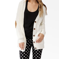 Chunky Elbow Patch Cardigan