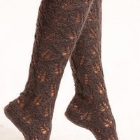 mohair lacy knee socks by lowie | notonthehighstreet.com