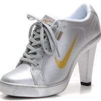 Sexy Ladies Silver Yellow Dunk Nike High Heels 2011 Cheap