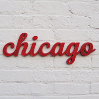 Chicago Wooden Sign