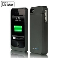 NEW Luxmo Maxboost Battery Charger Power Case and Screen Protector for Iphone 4s 4