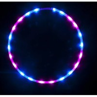 "Amazon.com: 36"" - 24 Solid Color LED Hula Hoop - Midnight Rose: Sports & Outdoors"